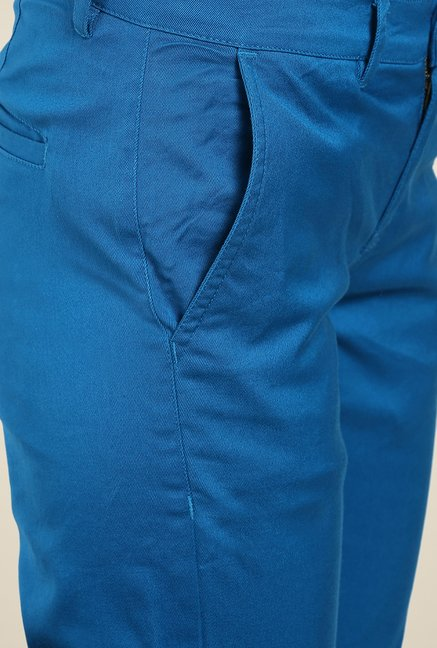 Yepme Rowee Blue Solid Chinos