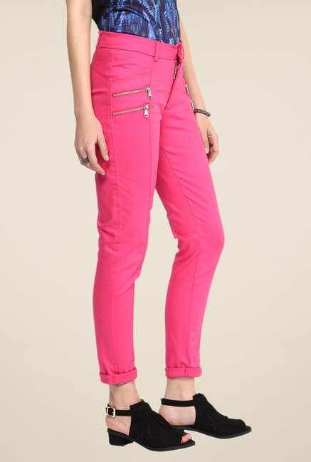 Yepme Chaviva Pink Solid Party Chinos
