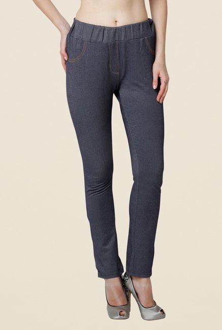 Yepme Regina Blue Solid Jeggings