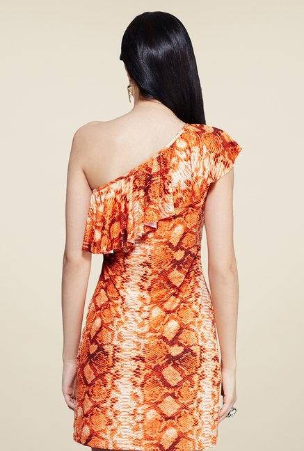 Yepme Orange Scarlett Printed Dress