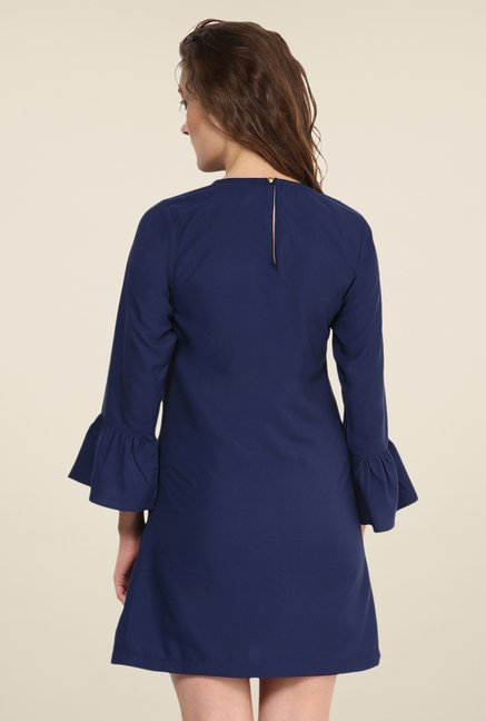 Yepme Navy Marcie Solid Shift Dress