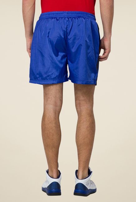 Yepme Blue Stevie Solid Sports Shorts