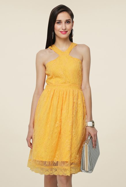 Yepme Bee Yellow Kylie Lace Dress