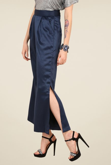 Yepme Adina Blue Solid Party Palazzos