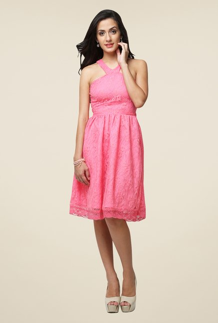 Yepme Pink Kylie Lace Dress