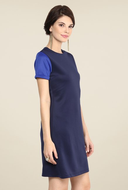 Yepme Navy Novella Solid Shift Dress