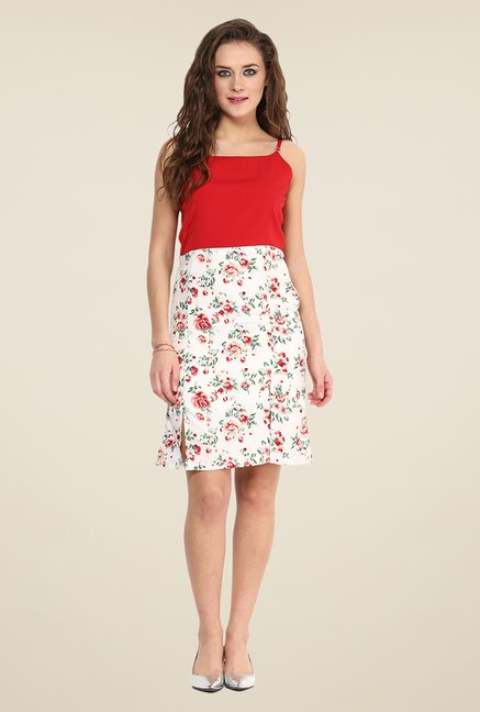 Yepme Red Flavia Slip Floral Print Dress