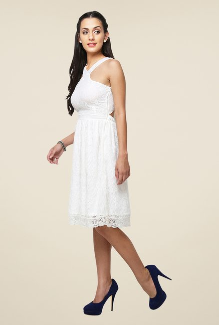 Yepme Off White Kylie Lace Dress