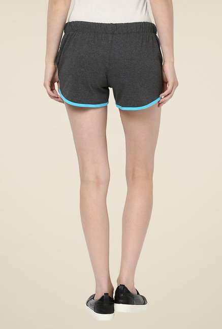Yepme Benita Dark Grey & Blue Shorts