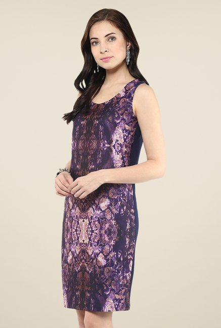 Yepme Purple Digital Printed Dress