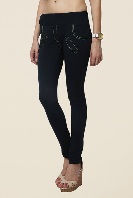 Yepme Maitei Black Solid Jeggings