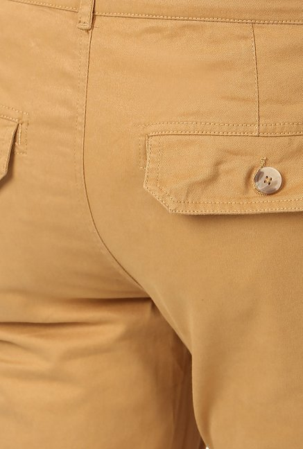 Yepme Brown Solid Cargos