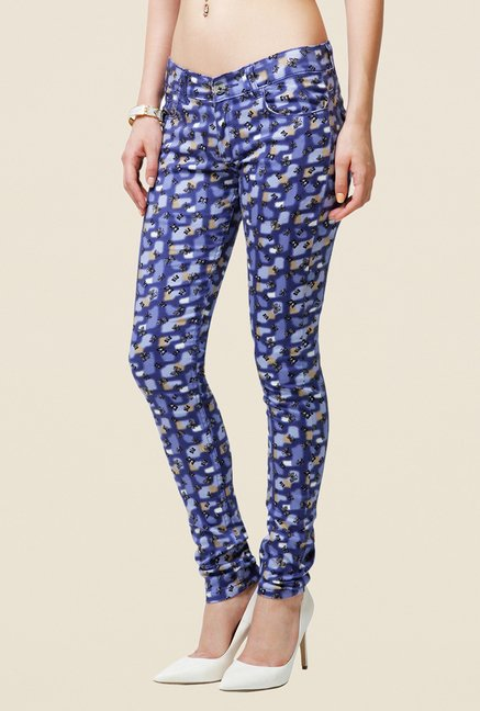 Yepme Estella Blue Printed Chinos