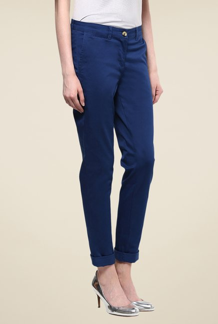 Yepme Terte Dark Blue Solid Chinos