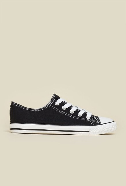 New Look Black Lace Up Trainer Shoes