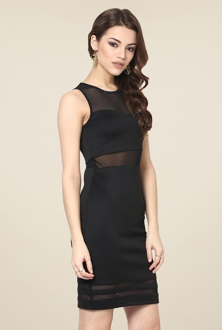 Yepme Black Olivia Lace Party Dress