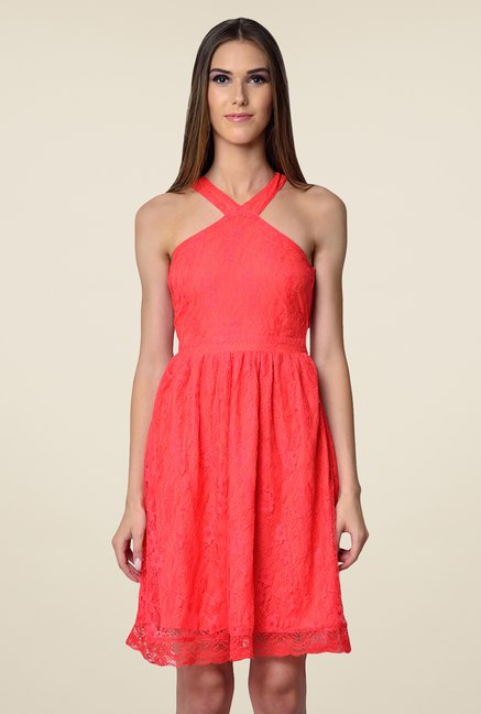 Yepme Coral Kylie Lace Dress