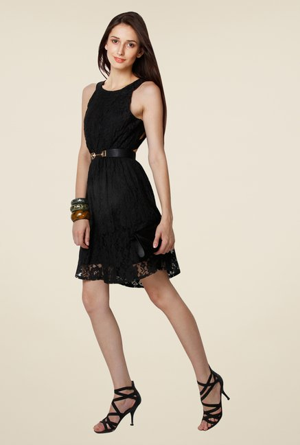 Yepme Black Eliza Lace Dress