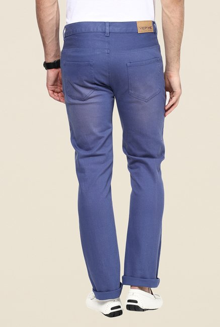 Yepme Rofler Blue Denim Drill Chinos