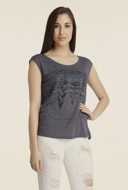 Vero Moda Grey Printed Top