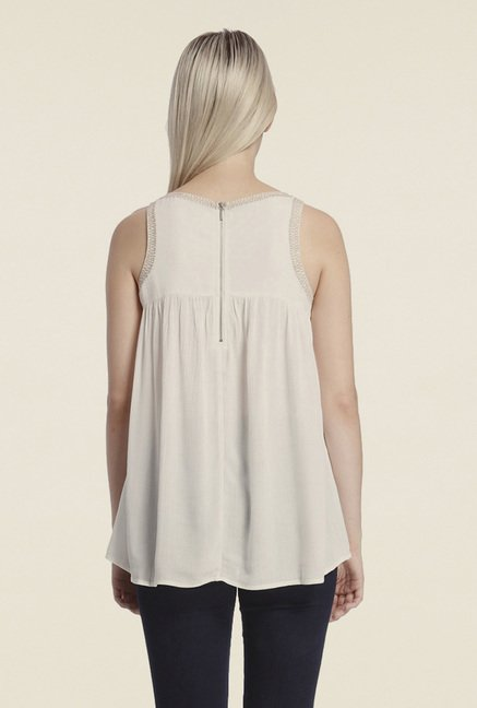 Vero Moda White Solid Top