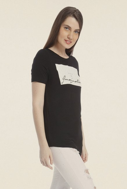 Vero Moda Black Graphic Print T Shirt