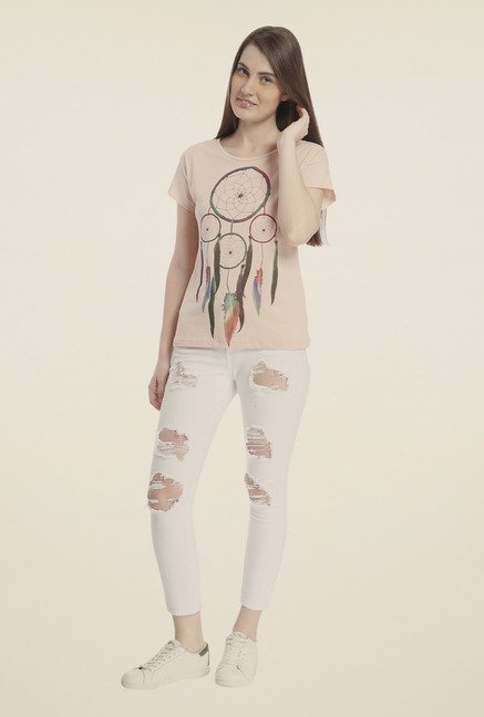 Vero Moda Light Rose Printed T-shirt