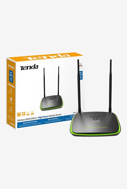 Tenda TE-DH301 300 Mbps Wireless High Power Router (Black)