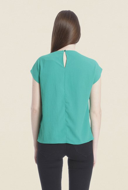 Vero Moda Green Solid Top