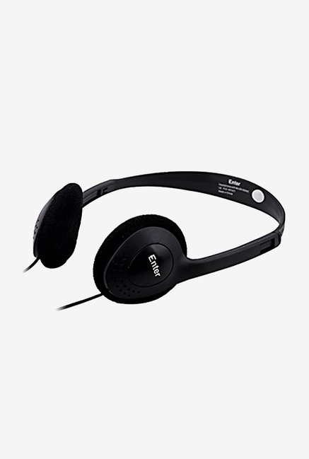 Enter EH-02A Wired On Ear Headphone with Mic (Black)