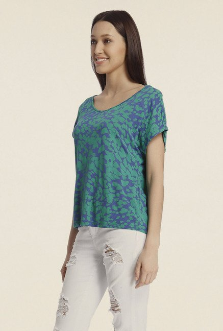 Vero Moda Blue Printed Top