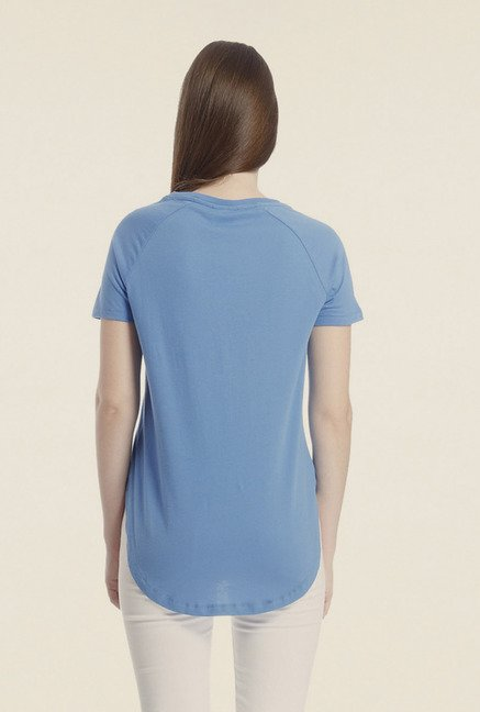 Vero Moda Blue Printed T-shirt