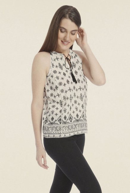 Vero Moda White Printed Top