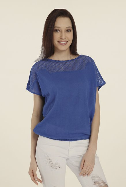 Vero Moda Royal Blue Lace Top