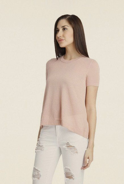Vero Moda Light Rose Solid T-shirt
