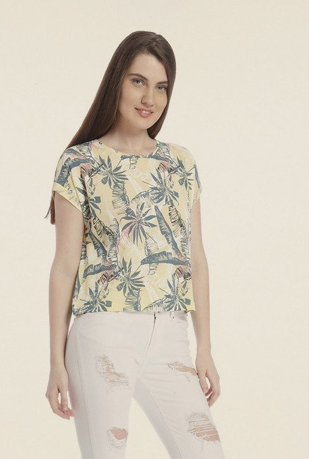 Vero Moda Yellow Printed T-shirt