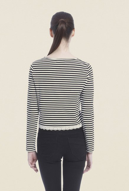 Vero Moda Black & White Striped Top