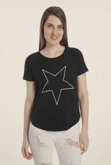 Vero Moda Black Printed T-shirt