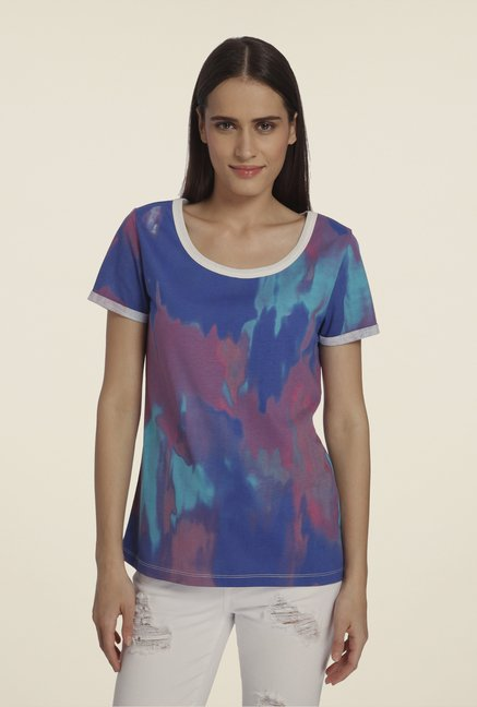 Vero Moda Blue Printed T Shirt