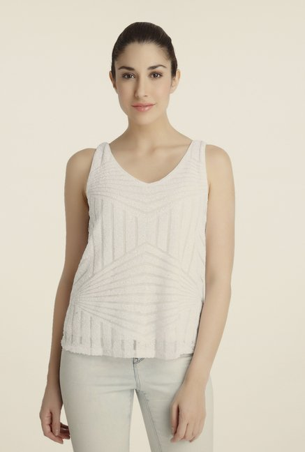 Vero Moda Off-white Self Top