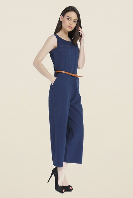 Only Navy Solid Jumpsuit