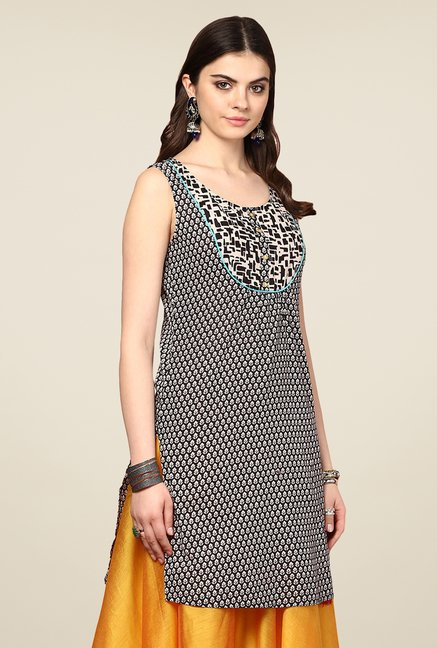 Yepme Kimberly Black Printed Kurti