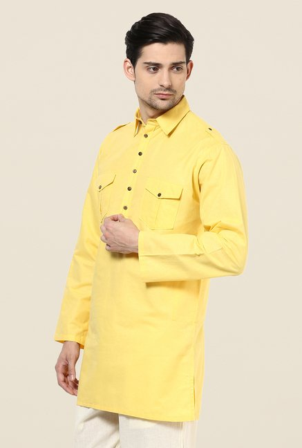 Yepme Bret Yellow Solid Kurta