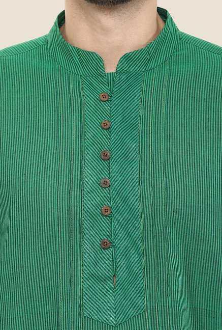 Yepme Brad Green Striped Kurta