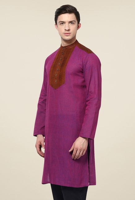 Yepme Louis Purple & Brown Solid Kurta