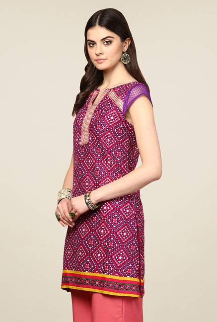 Yepme Antonia Purple Printed Kurti