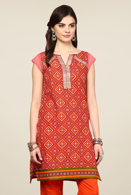 Yepme Antonia Red Printed Kurti