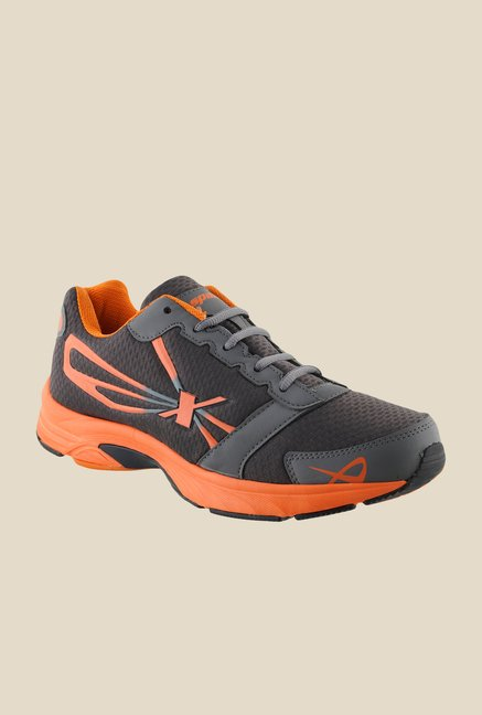 Sparx Grey & Orange Running Shoes