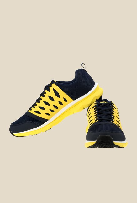 Sparx Navy & Yellow Running Shoes