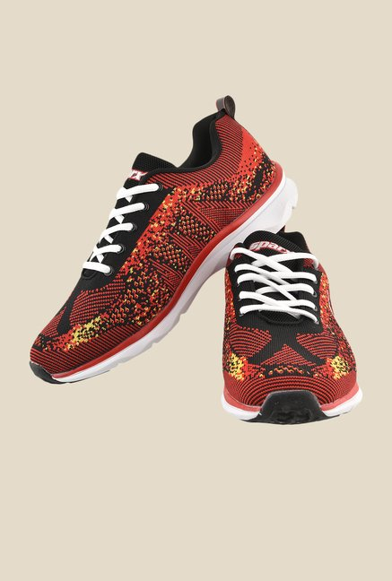 Sparx Red & White Running Shoes